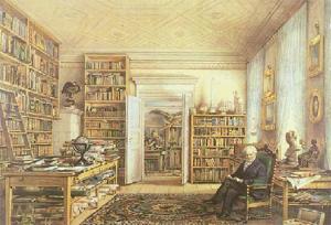 Humboldt em sua biblioteca -1856
