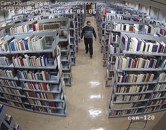 Imagens do circuito interno de câmeras da Unicamp