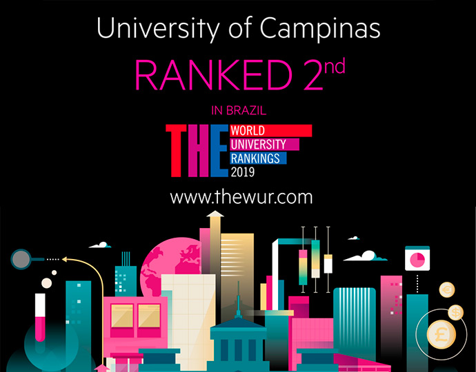 Unicamp é terceira colocada no ranking Times Higher Education Latin America