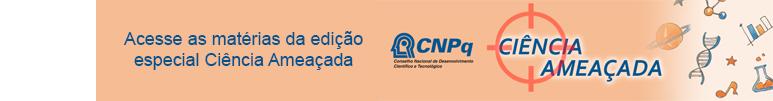 Icone Ciência Ameaçada e logo CNPq