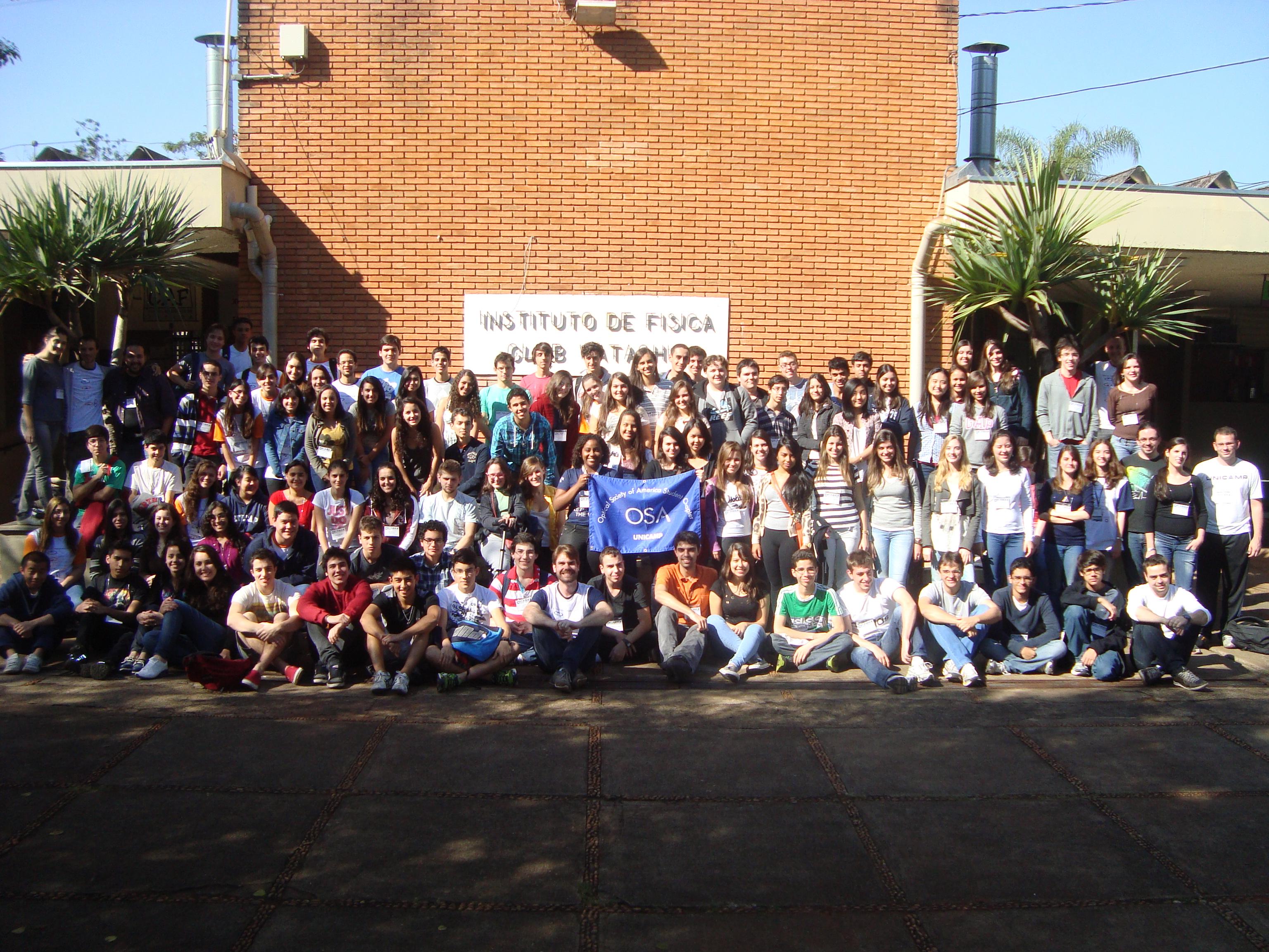 Participantes do XI Física nas Férias