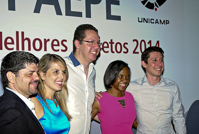 A equipe de anfitriões do Prêmio Paepe