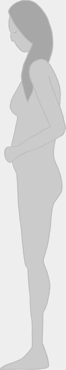 perfil de uma mulher gravida envergonhada