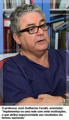 """O professor José Guilherme Cecatti, orientador: """"Implementou-se uma rede com vinte instituições, o que atribui expressividade aos resultados em termos nacionais"""""""