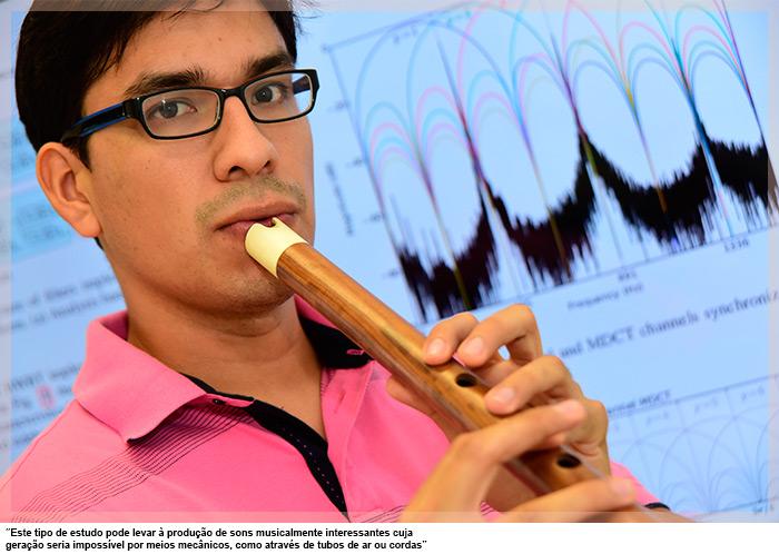 """O engenheiro eletricista Aldo Díaz, autor da dissertação: """"Este tipo de estudo pode levar à produção de sons musicalmente interessantes cuja geração seria impossível por meios mecânicos, como através de tubos de ar ou cordas"""""""