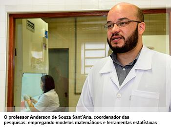 O professor Anderson de Souza Sant'Ana, coordenador das pesquisas: empregando modelos matemáticos e ferramentas estatísticas