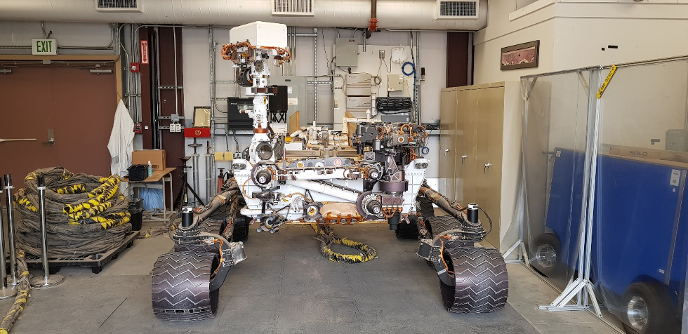 "Rover ""Maggie"" (réplica do Curiosity)"
