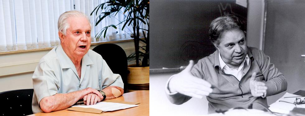 montagem de fotos mostra fausto castilho em 2015 e na época em quem era diretor do instituto de filosofia e ciências humanas