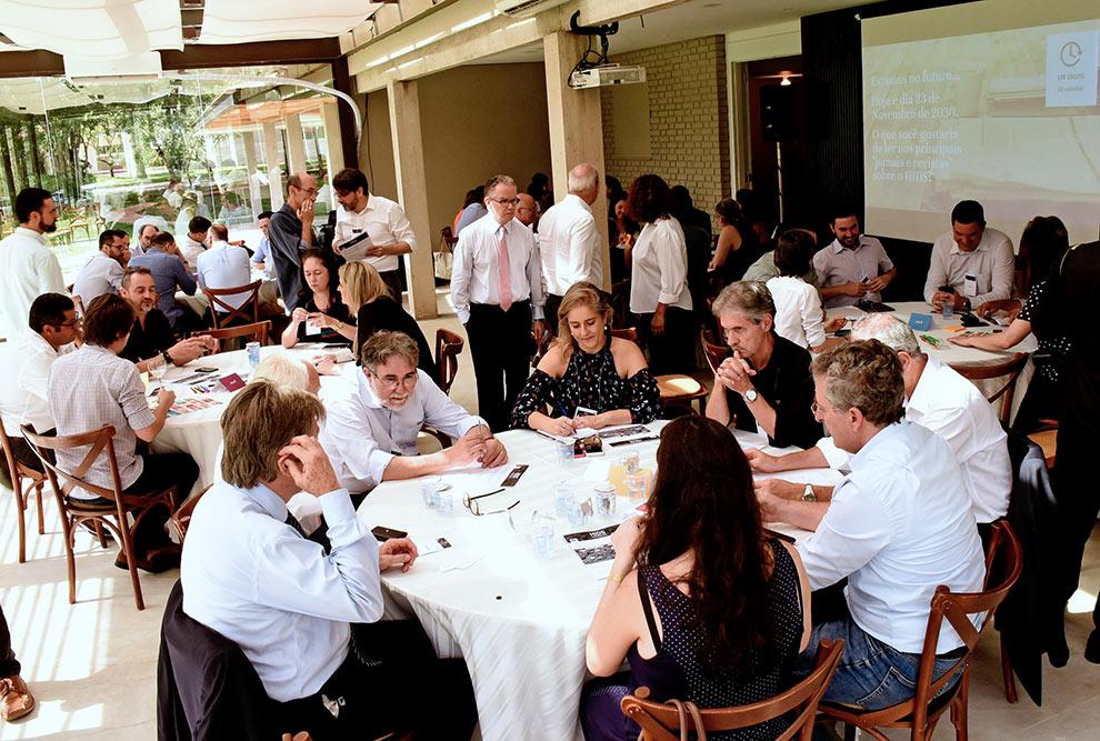 Participantes do workshop debatem instalação de futuro hub de desenvolvimento sustentável na Fazenda Argentina