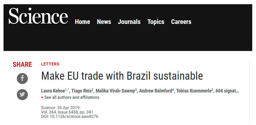 Tornar Sustentável o Comércio com o Brasil