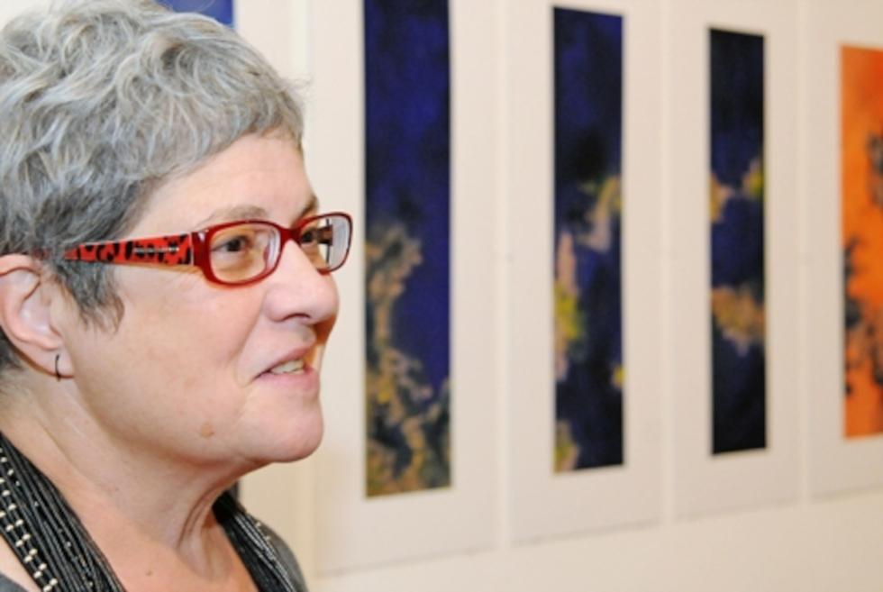 """A artista plástica Lygia Eluf, organizadora da coleção Cadernos de Desenho que venceu o Prêmio Jabuti de 2009 na categoria """"Arquitetura e Urbanismo, Fotografia, Comunicação e Artes"""""""