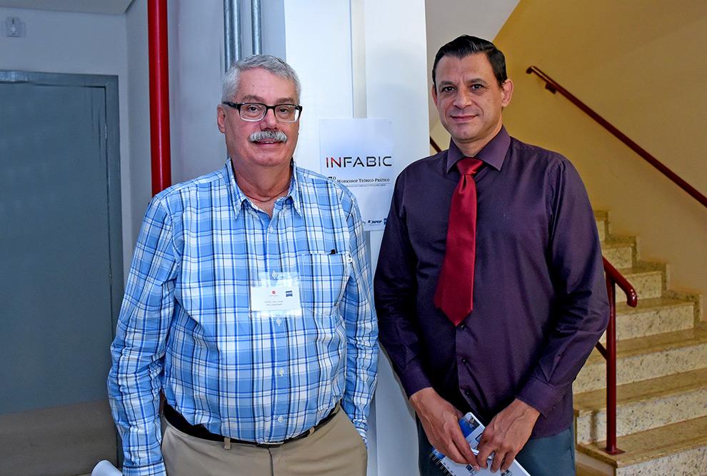 Os professores Carlos Lenz e Hernandes Carvalho, coordenadores do INFABiC da Unicamp