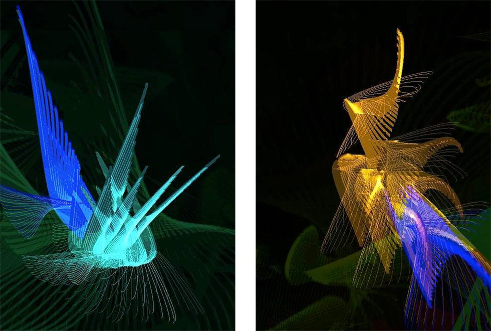imagens computacionais de pássaros