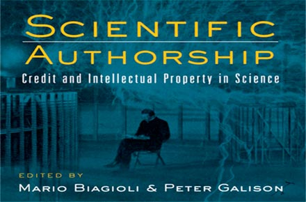 "Capa do livro ""Scientific Authorship: Credit and Intellectual Property in Science"" 