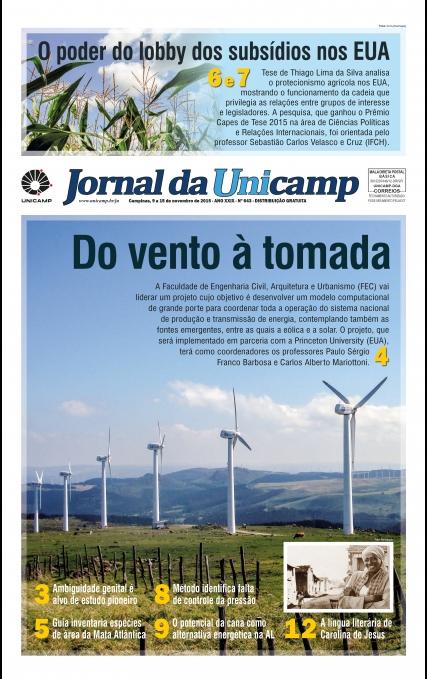Capa do jornal da Unicamp edição 643