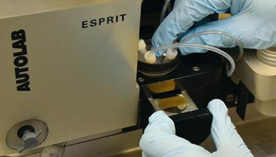 Dispositivo usado nos experimentos: biossensores detectam anticorpos específicos da LV. Foto: Antoninho Perri