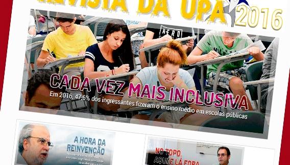 Detalhe da capa da revista virtual de 2016