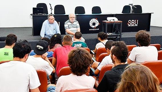 Reitor Tadeu Jorge e Paulo Cesar Montagner
