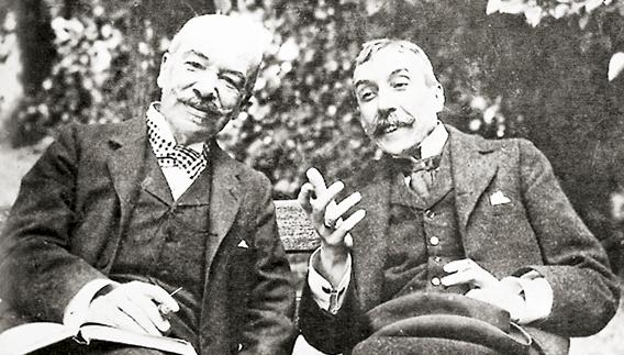 Eça de Queiroz (à direita) com Carlos Mayer