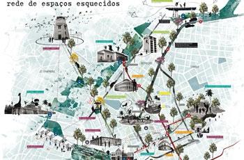 Mapa do projeto nos bairros de Campinas