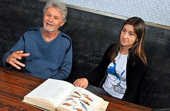 Ivan Sazima e Milena Corbo: ineditismo do livro está na parte de história natural