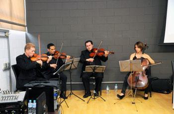 Apresentação do quarteto de cordas