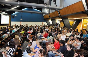 Plateia durante o evento