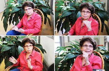 A docente Maria Aparecida Moysés