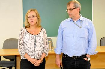 Beatriz Bonacelli e José Roque durante evento no IG