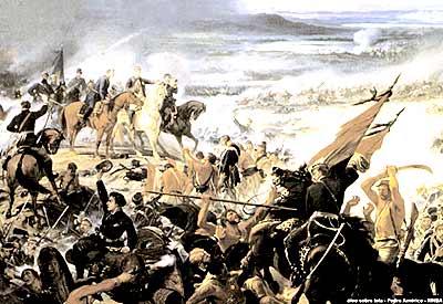 Batalha do Avaí, que está no Museu Nacional de Belas Artes, no Rio, e foi objeto de uma releitura por parte da autora da tese