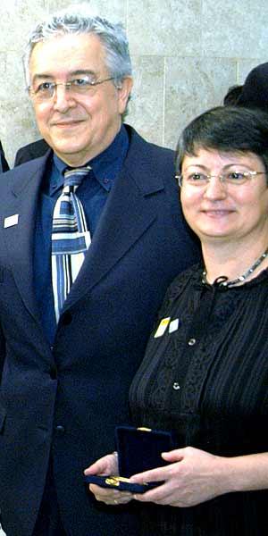 O professor Jorge Coli e a historiadora Maraliz Vieira Christo