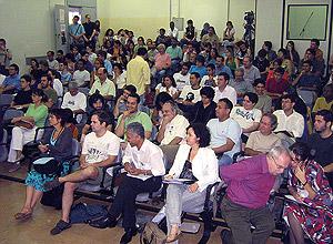Platéia na última edição do Colóquio Internacional Marx e Engels, realizado na Unicamp entre 6 e 9 de novembro (Foto: Divulgação)