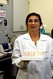 A fisiologista M�rcia Carvalho Garcia