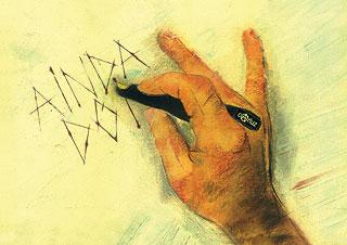 """Ilustração de Carlos Roberto Fernandes sobre a obra """"Umani–Mãos Humanizadas"""", de Mario Mariotti"""