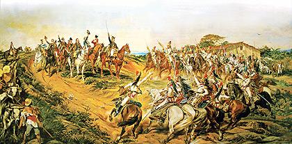 Independência ou Morte, obra de Pedro Américo: para Varnhagen, a transição da Colônia para Império teria ocorrido sem rupturas (Fotos: Reprodução/Divulgação)